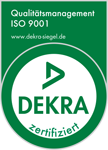 Dekra-Siegel Qualitätsmanagement nach ISO 9001